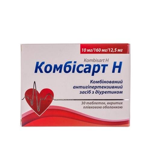 КОМБИСАРТ Н ТАБ. 10/160/12,5МГ №30 - фото 1 | Сеть аптек Viridis