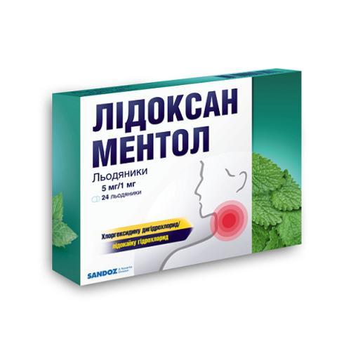 ЛИДОКСАН МЕНТОЛ ЛЕД. №24 - фото 1 | Сеть аптек Viridis