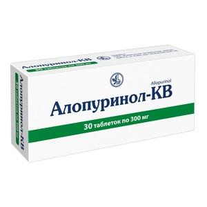 АЛЛОПУРИНОЛ-КВ ТАБ. 300МГ №30