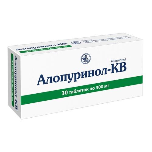 АЛЛОПУРИНОЛ-КВ ТАБ. 300МГ №30 - фото 1 | Сеть аптек Viridis