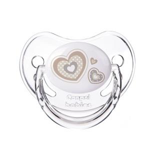 КАНПОЛ Пустушка силіконова анатомічна 6-18 міс. Newborn baby бежеві серця