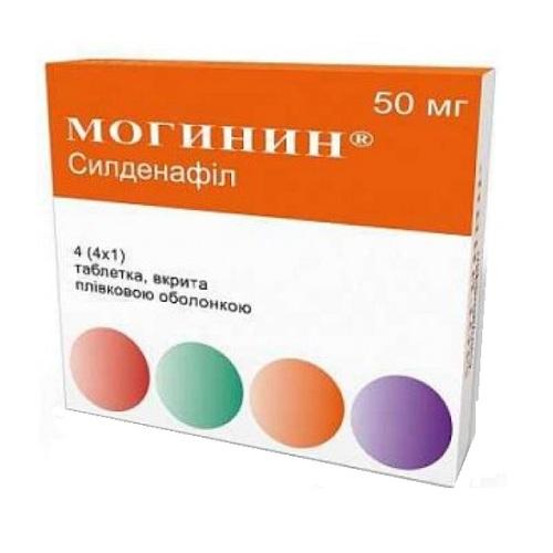 МОГИНИН ТАБ. П/О 50МГ №4 - фото 1 | Сеть аптек Viridis