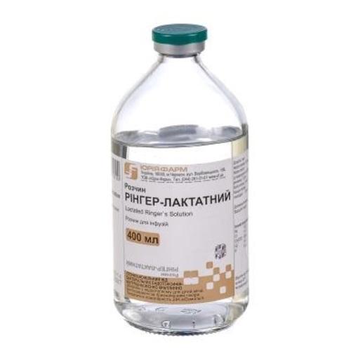 РІНГЕРА ЛАКТАТ Р-Н Д/ІНФ. 400МЛ - ЮРІЯ-ФАРМ ТОВ - фото 1 | Сеть аптек Viridis