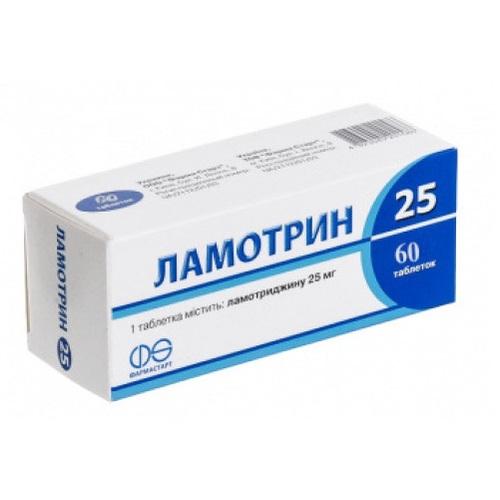 ЛАМОТРИН 25 ТАБ. 25МГ №60