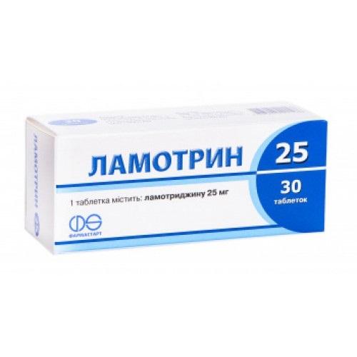 ЛАМОТРИН 25 ТАБ. 25МГ №30