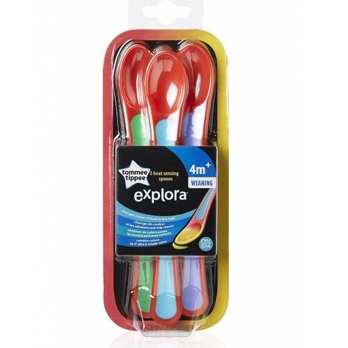TOMMEE TIPPEE Ложечки теплочувствительные с 4 мес 3 шт. - фото 1 | Сеть аптек Viridis