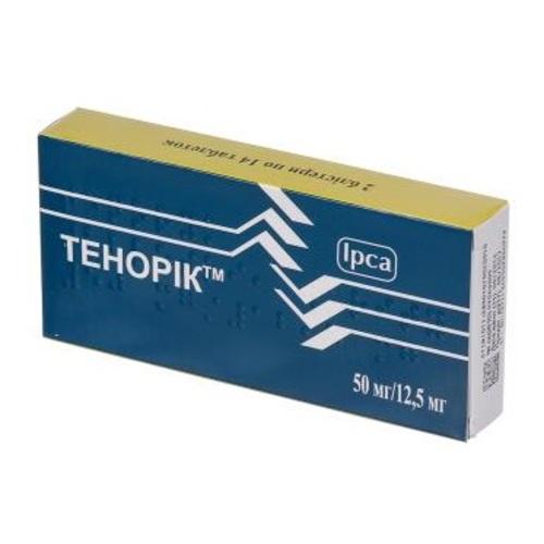 ТЕНОРИК ТАБ. 50МГ/12,5МГ №28 без ндс - фото 1 | Сеть аптек Viridis