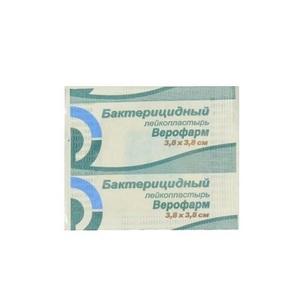 ПЛАСТИР ВЕРОФАРМ бактерицидний на ткан. осн. 3,8см х 3,8см