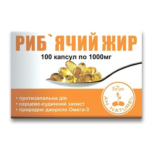 РИБ'ЯЧИЙ ЖИР КАПС. 1000МГ №100 - фото 1   Сеть аптек Viridis