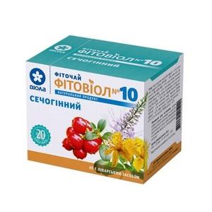 ФИТОЧАЙ ФИТОВИОЛ №10 МОЧЕГОННЫЙ 1,5г №20