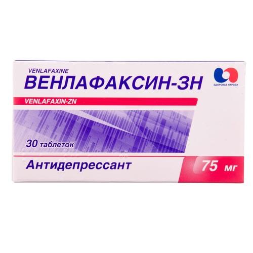 ВЕНЛАФАКСИН-ЗН ТАБ. 75МГ №30 НДС - фото 1 | Сеть аптек Viridis