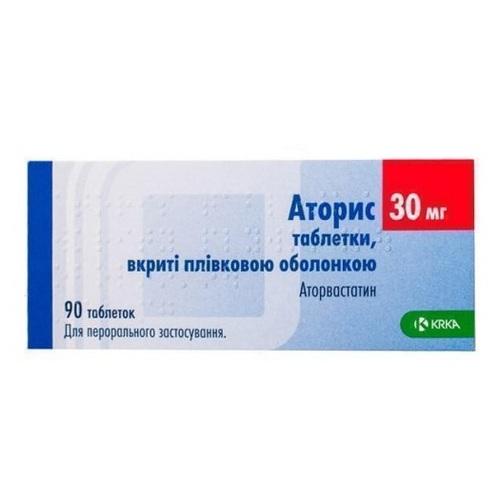 АТОРИС ТАБ. 30МГ №90 - фото 1   Сеть аптек Viridis