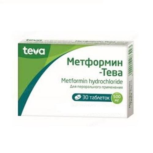 МЕТФОРМИН-ТЕВА ТАБ. 500МГ №30 - фото 1 | Сеть аптек Viridis