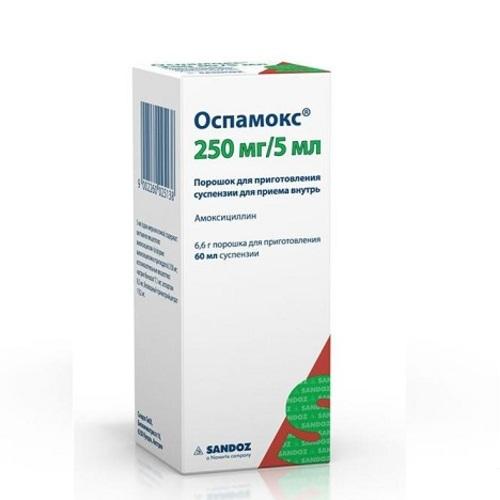 ОСПАМОКС ПОР. Д/СУСП. 250МГ/5МЛ 60МЛ