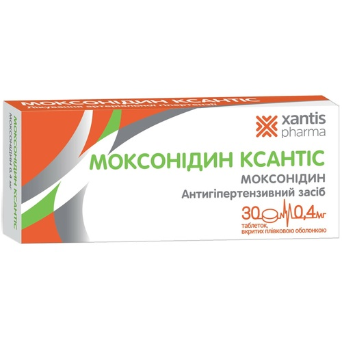 МОКСОНИДИН КСАНТИС ТАБ. 0.4МГ №30 - фото 1 | Сеть аптек Viridis