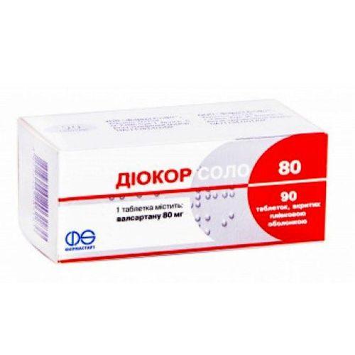 ДИОКОР СОЛО 80 ТАБ. 80МГ №90 - фото 1 | Сеть аптек Viridis