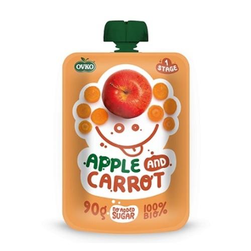 ОВКО Пюре органічне Яблуко та морква 90г - 3H MEDICAL - фото 1 | Сеть аптек Viridis