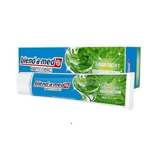 БЛЕНДАМЕД зуб. паста КОМПЛЕКС з ополіскувачем свіжість трав м'ята і чебрець 100мл - фото 1 | Сеть аптек Viridis