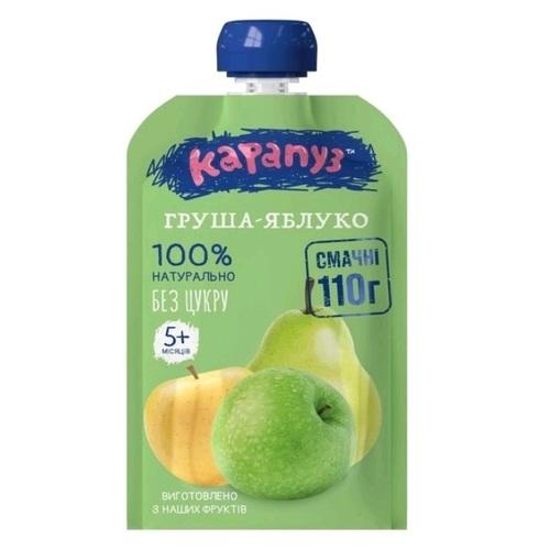 Карапуз Пюре Груша, яблуко 110 г пауч - фото 1 | Сеть аптек Viridis