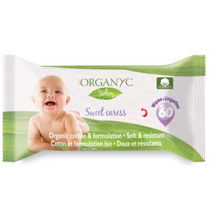 ОРГАНІК Вологі серветки дитячі бавовняні органічні 60шт