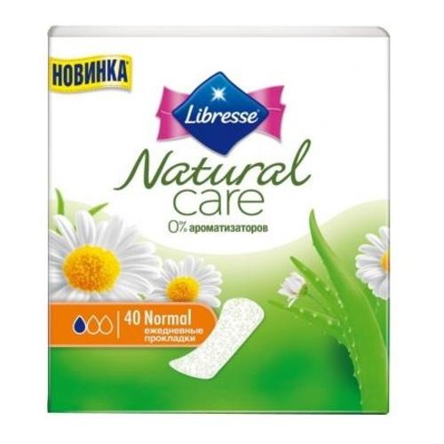 Лібрес Прокладки гігіен.Natural Care Pantyliners Normal 40 шт