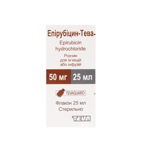 ЕПІРУБІЦИН ТЕВА 2МГ/МЛ 25МЛ - фото 1 | Сеть аптек Viridis