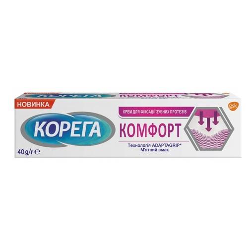 КОРЕГА КОМФОРТ ЗУБ. КРЕМ 40Г - фото 1 | Сеть аптек Viridis