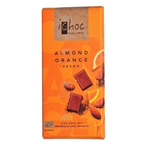 Людвиг Вайнрих Шоколад Мигдаль-Апельсин 80г органічний (Almond Orange) - фото 1 | Сеть аптек Viridis