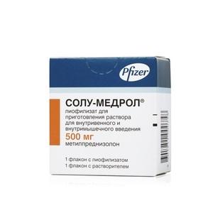 СОЛУ-МЕДРОЛ Д/ІН. 500МГ З Р-КОМ без ндс