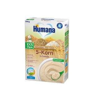 ХУМАНА Organic Каша безмолочна 5 злаків з 6 міс. 200г