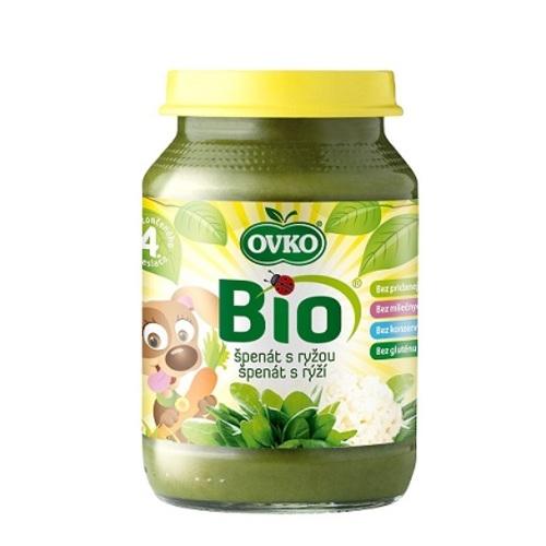 ОВКО Пюре органическое Шпинат с рисом 190г - фото 1 | Сеть аптек Viridis