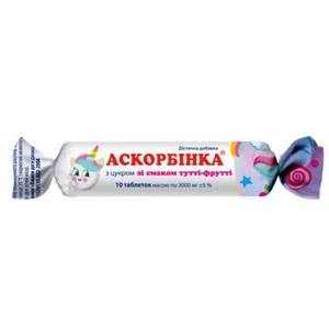 АСКОРБИНКА-КВ ТУТТИ-ФРУТТИ ТАБ. 25МГ №10 без ндс