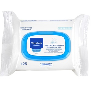 МУСТЕЛА Серветки очищуючі для обличчя 25шт - Facial Cleansing cloth