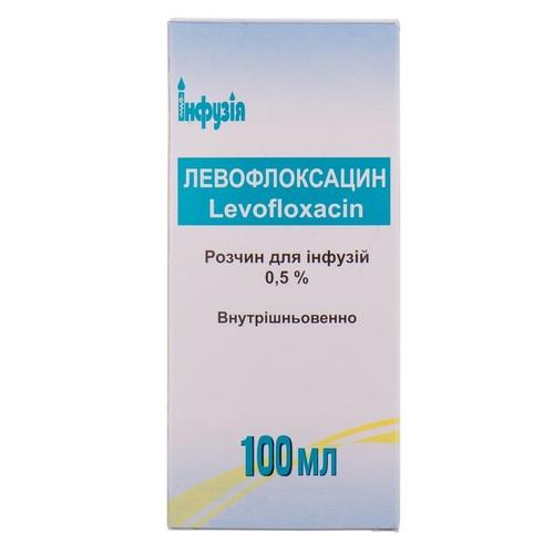 ЛЕВОФЛОКСАЦИН Р-Н Д/ІНФ. 0,5% 100МЛ - фото 1 | Сеть аптек Viridis
