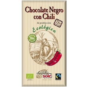 Соле Шоколад темний 73% какао з перцем чілі  органичний  100 гр