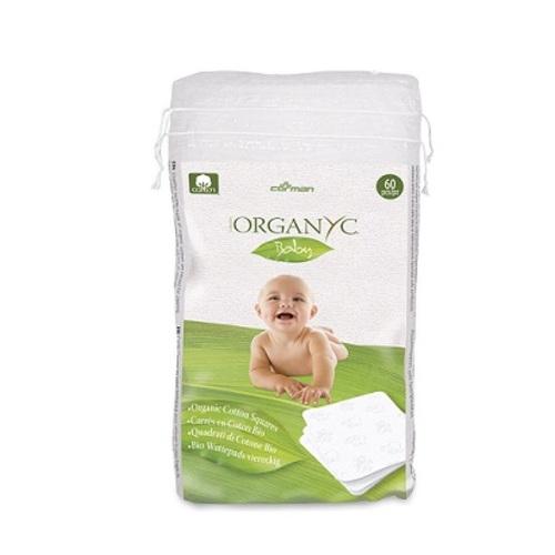 ОРГАНІК Ватні диски квадратні дитячі  бавовняні органічні 60шт