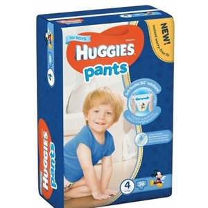 ХАГИС подгуз.-трусики Pants 4 (9-14кг) 36шт для мальчиков