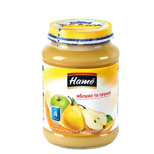 ХАМЕ Пюре яблуко та груша 190г - фото 1 | Сеть аптек Viridis