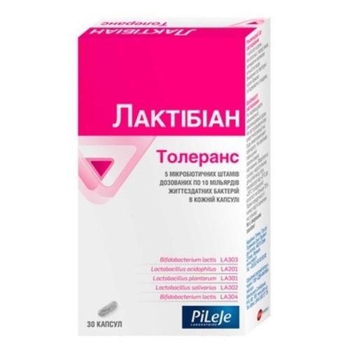 Пілеж ЛАКТІБІАН ТОЛЕРАНС капсули № 30 - фото 1 | Сеть аптек Viridis