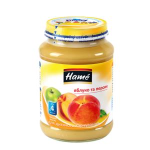 ХАМЕ Пюре яблоко и персик 190г