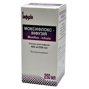 МОКСИФЛОКС-ІНФУЗІЯ 400МГ/250МЛ 250МЛ без ндс