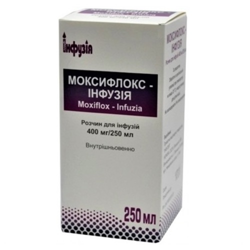 МОКСИФЛОКС-ИНФУЗИЯ 400МГ/250МЛ 250МЛ