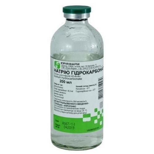 НАТРИЯ ГИДРОКАРБОНАТ 4% 200МЛ - фото 1   Сеть аптек Viridis