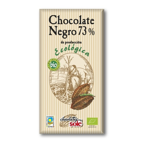 Соле Шоколад темний 73% какао органичний  100 гр