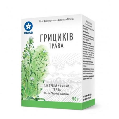 ГРИЦИКІВ ЗВИЧАЙНИХ ТРАВА 50Г - фото 1 | Сеть аптек Viridis