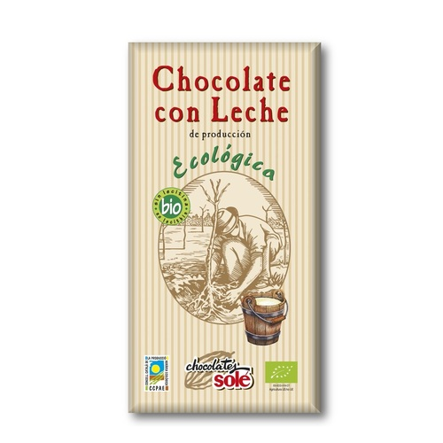Соле Шоколад молочний 38% какао органичний 100 гр