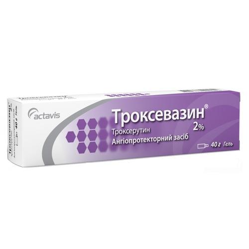 ТРОКСЕВАЗИН ГЕЛЬ 2% 40Г - фото 1 | Сеть аптек Viridis