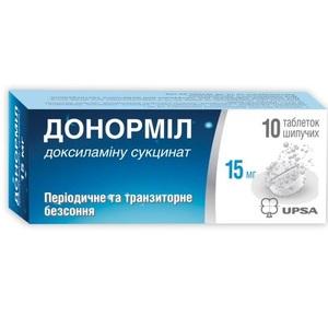 ДОНОРМІЛ ТАБ. ШИП. 15МГ №10