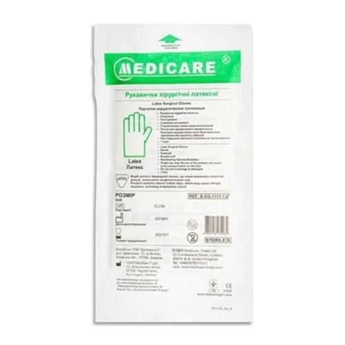 ПЕРЧАТКИ ХИР. СТ. Р.7,5 MEDICARE без ндс - фото 1 | Сеть аптек Viridis