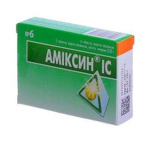 АМІКСИН ІС ТАБ. 0.125Г №6